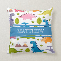 Personalized Cute Dinosaurs Pillow