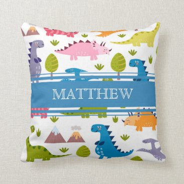 Toddler & Baby themed Personalized Cute Dinosaurs Pillow