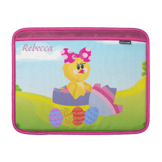 Personalized cute easter chic MacBook air sleeve