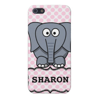 Personalized Cute Elephant Clipart Cover For iPhone SE/5/5s