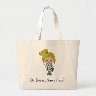 Personalized Cute Female Blonde Doctor Tote Bag