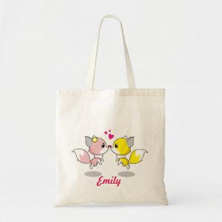 Personalized Cute fox kids Tote Bag