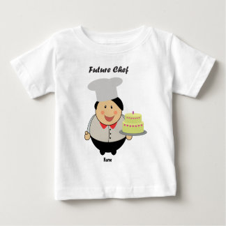 Personalized Cute Future Chef by Learning Candy Baby T-Shirt
