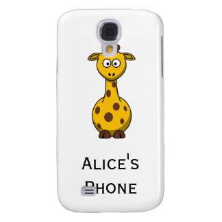 Personalized Cute Giraffe Cartoon  Galaxy S4 Cover