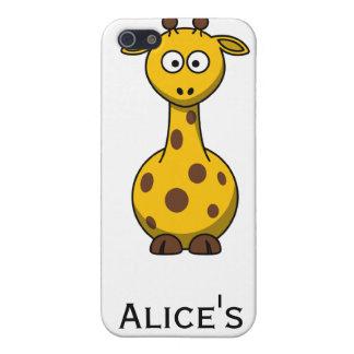 Personalized Cute Giraffe Clipart iPhone 4 Case