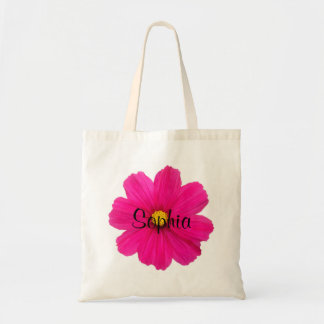 personalized cute girly pink flower girl bag