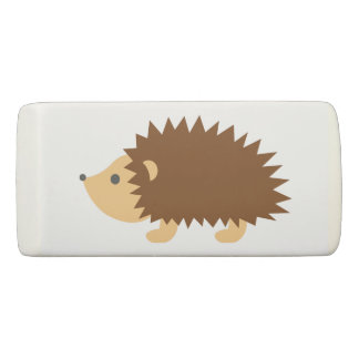 Personalized cute hedgehog animal illustration eraser