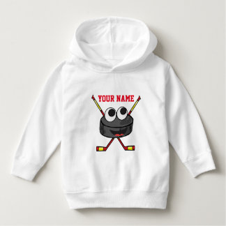 Personalized cute Ice Hockey puck and sticks Hoodie