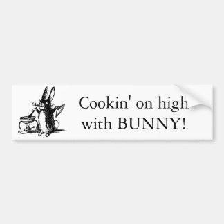 Personalized Cute Illustrated Vintage Rabbit Bumper Sticker
