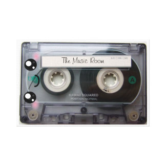 Personalized Cute Kawaii Cassette Tape Canvas Print