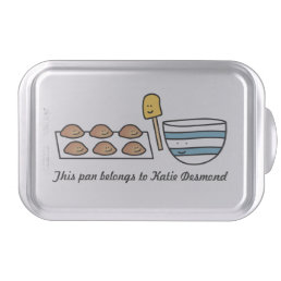 Personalized Cute Kawaii Cookie Covered Baking Pan