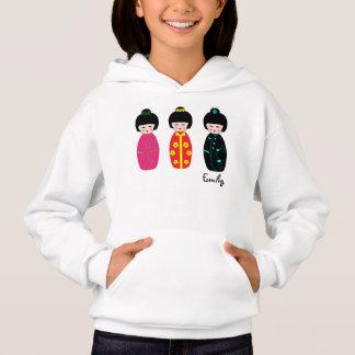 Personalized Cute Kokeshi Dolls Designs Hoodie