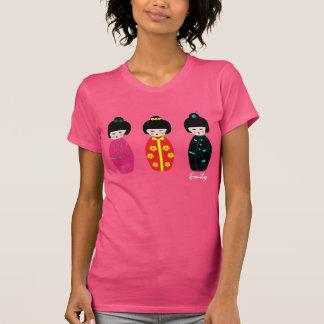 Personalized Cute Kokeshi Dolls Designs T- Shirt