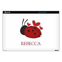 "personalized cute ladybug 17"" laptop decal"