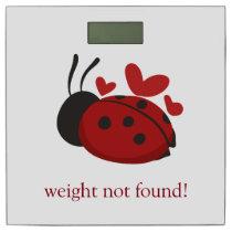 personalized cute ladybug bathroom scale