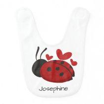 Personalized Cute LadyBug Bib