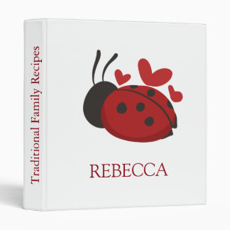 personalized cute ladybug binder