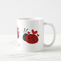 personalized cute ladybug coffee mug