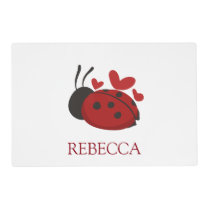 personalized cute ladybug placemat