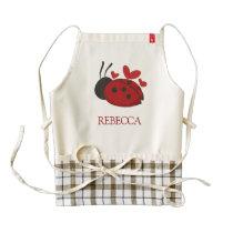 personalized cute ladybug zazzle HEART apron