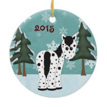 Personalized Cute Leopard Appaloosa ~ Appy Horse Ceramic Ornament