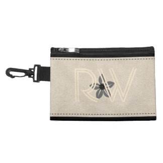 Personalized  Cute Linen Look Add Initials Bag