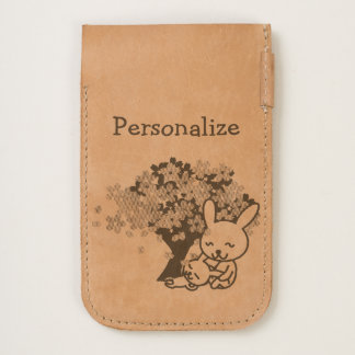 Personalized Cute Mama & Baby Bunny Phone Pouch