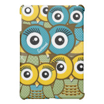 Personalized Cute OWL iPad Mini Case