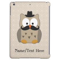 Personalized Cute Owl Mustache Hat Case For iPad Air