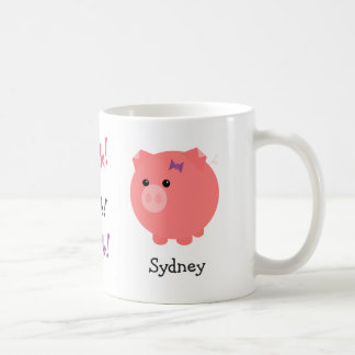 Personalized Cute Pig Cup