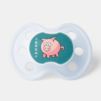 Personalized Cute Pink Pig Pacifier