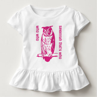 Personalized Cute Pink Who Who Owl T-shirt
