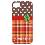 Personalized Cute Polka Dots & Four-leaf Clover iPhone 5 Covers