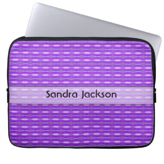Personalized cute purple pattern computer sleeve