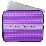 Personalized cute purple pattern laptop computer sleeves