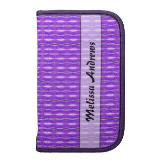 Personalized cute purple pattern planners