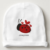 Personalized Cute Red LadyBug beanie