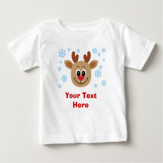Personalized Cute Reindeer Baby Baby Baby T-Shirt