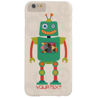 Personalized Cute Retro Robot Sci Fi Barely There iPhone 6 Plus Case