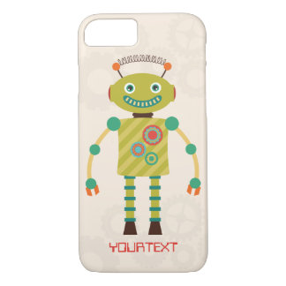 Personalized Cute Retro Robot Sci Fi iPhone 7 Case