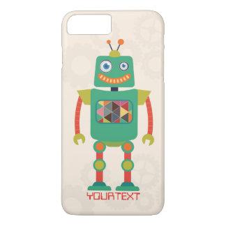 Personalized Cute Retro Robot Sci Fi iPhone 7 Plus Case