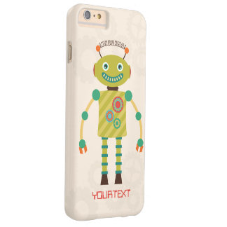 Personalized Cute Retro Robot Science Fiction Barely There iPhone 6 Plus Case