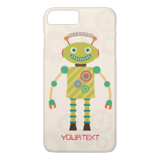 Personalized Cute Retro Robot Science Fiction iPhone 7 Plus Case