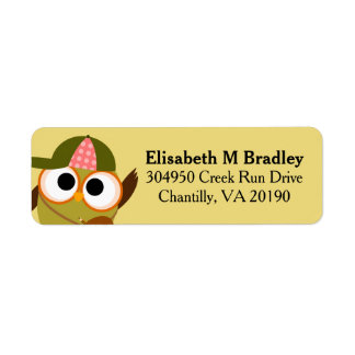 Personalized Cute School Owl Student Label