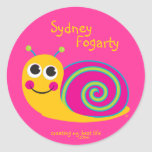 Personalized Cute Snail Sticker for Girls