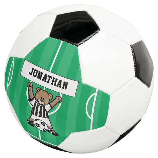 Personalized Cute Soccer Bear Soccer Ball