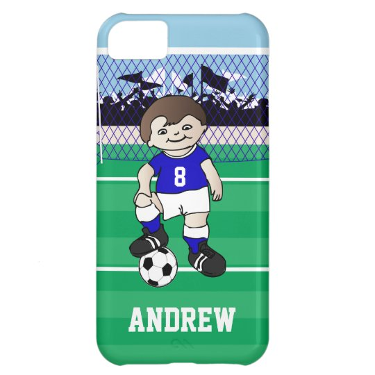Personalized cute soccer boy case for iPhone 5C