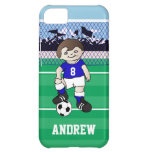 Personalized cute soccer boy iPhone 5C cover