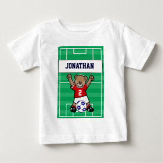 Personalized Cute Soccer Teddy Bear (red) Shirt