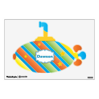 Personalized Cute Submarine Baby Boy Wall Decal